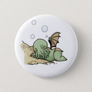 In his house at R'lyeh dead Cthulhu waits dreaming 6 Cm Round Badge