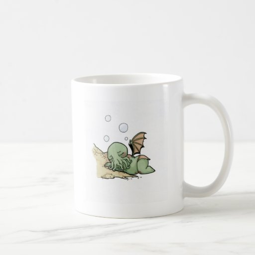 In his house at R'lyeh dead Cthulhu waits dreaming Mugs
