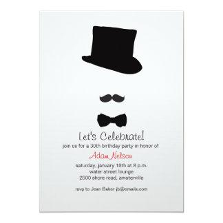 In His Top Hat Invitation