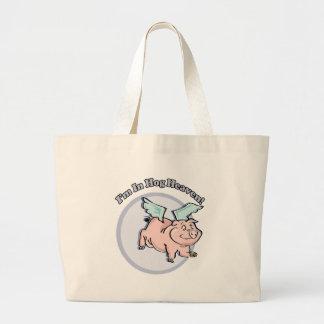 In Hog Heaven Funny T-shirts Gifts Jumbo Tote Bag