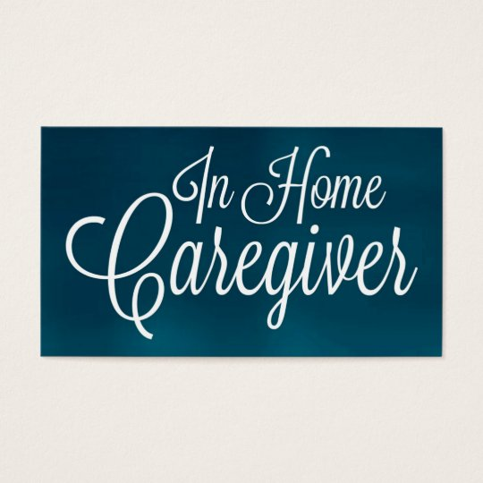 In Home Caregiver Brushed Business Card