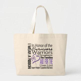 In Honor Collage Tribute Hodgkin's Lymphoma Jumbo Tote Bag