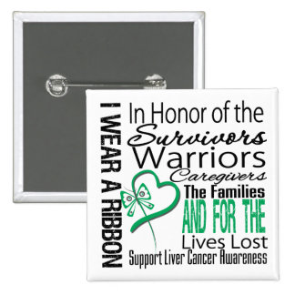 In Honor Collage Tribute Liver Cancer 15 Cm Square Badge