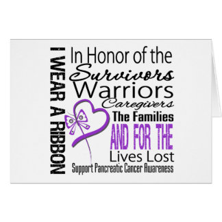 In Honor Collage Tribute Pancreatic Cancer Greeting Card