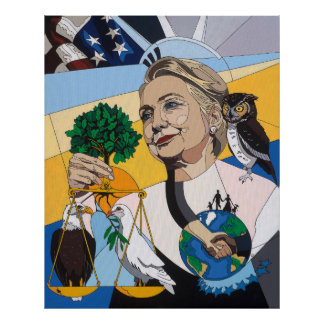 In honor of Hillary Clinton Posters