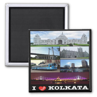 IN - India - Kolkata - Mosaic - Collage Magnet