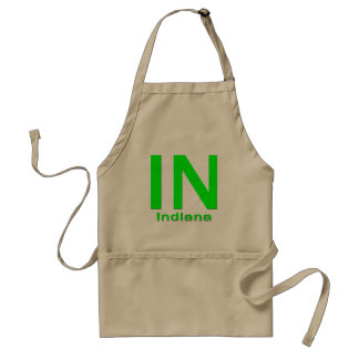 IN Indiana green Standard Apron