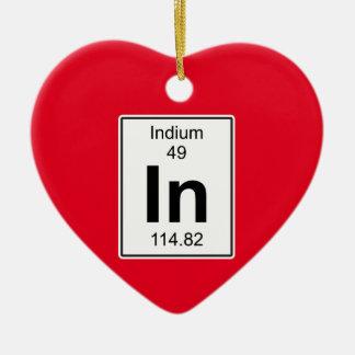 In - Indium Ceramic Heart Decoration