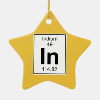 In - Indium Ceramic Star Decoration