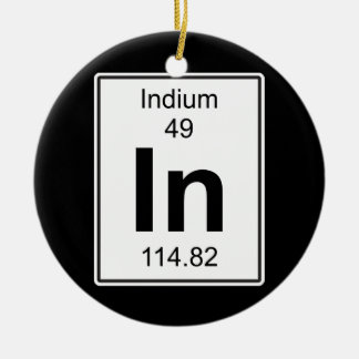 In - Indium Round Ceramic Decoration