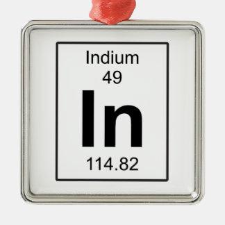 In - Indium Silver-Colored Square Decoration