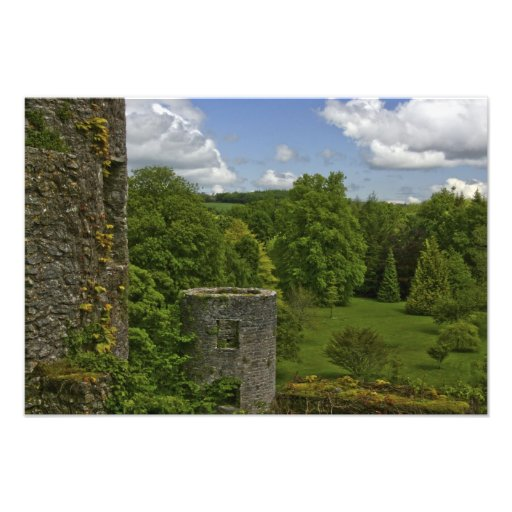 In Ireland, at Blarney Castle a stone tower in Art Photo