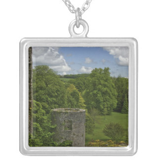 In Ireland, at Blarney Castle a stone tower in Silver Plated Necklace