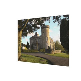 In Ireland, the Dromoland Castle side entrance Canvas Print