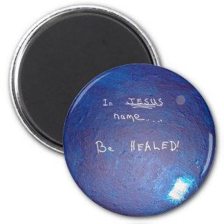 In Jesus Name - 1118 6 Cm Round Magnet