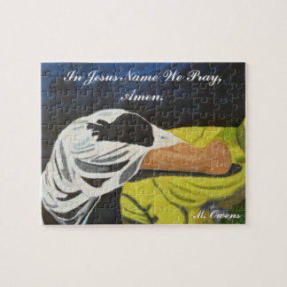 In Jesus Name We Pray, Amen. Puzzle with Gift Box