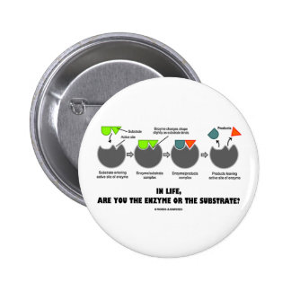 In Life, Are You The Enzyme Or The Substrate? 6 Cm Round Badge