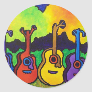 In Life I sing by piliero Round Sticker