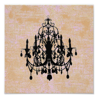 In Love Chandelier ~ Print / Poster