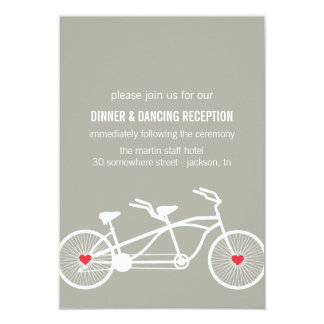 In love- Gray Bicycle Design Reception Cards 9 Cm X 13 Cm Invitation Card