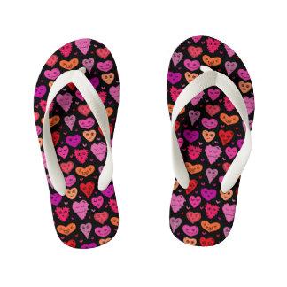 In love kid's flip flops
