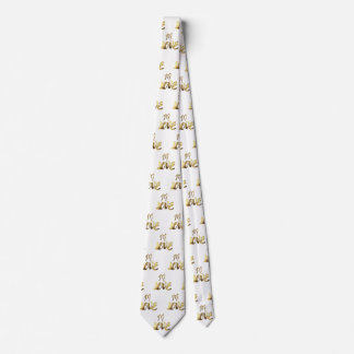 In Love Quote Gold Typography Romantic Elegant Tie