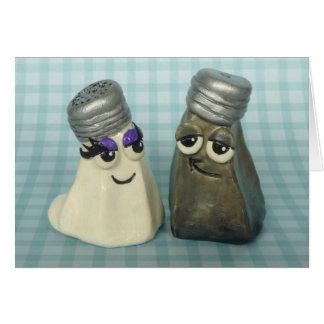 In Love Salt and Pepper Shakers Greeting Card