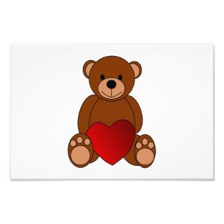In love teddy bear cartoon photographic print