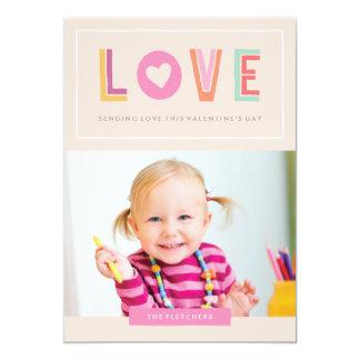 In Love Valentine's Day Card - Peach 13 Cm X 18 Cm Invitation Card