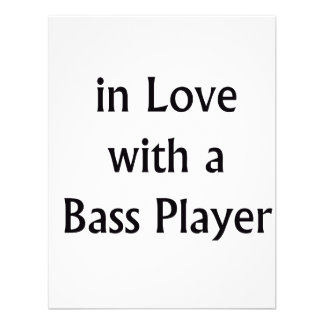 In Love With A Bass Player Black Text Invitations