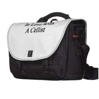 In Love With A Cellist Laptop Bags