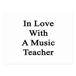 In Love With A Music Teacher Postcard