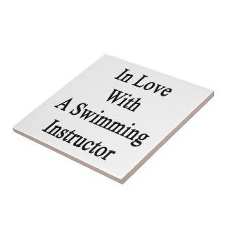 In Love With A Swimming Instructor Small Square Tile