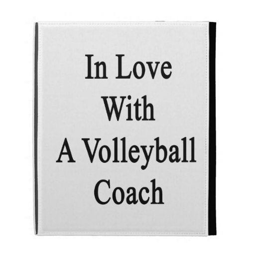 In Love With A Volleyball Coach iPad Case