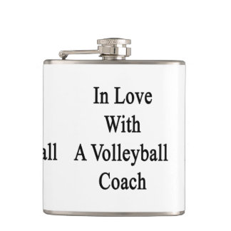 In Love With A Volleyball Coach Hip Flasks