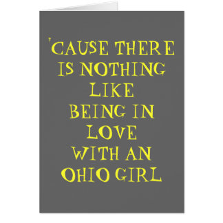 IN LOVE WITH AN OHIO GIRL GREETING CARD