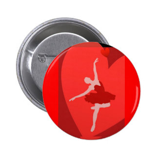 In Love With Ballet 6 Cm Round Badge