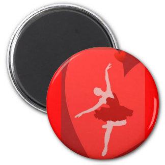 In Love With Ballet 6 Cm Round Magnet