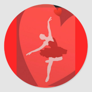 In Love With Ballet Classic Round Sticker