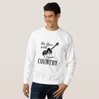 In love with country sweatshirt