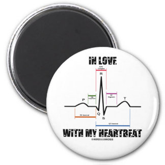 In Love With My Heartbeat (Electrocardiogram) 6 Cm Round Magnet