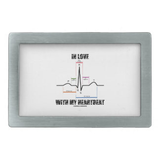 In Love With My Heartbeat Electrocardiogram Rectangular Belt Buckles