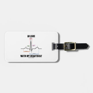 In Love With My Heartbeat Electrocardiogram Tag For Bags