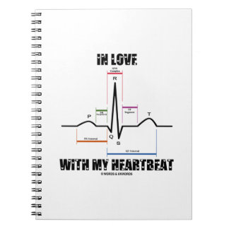 In Love With My Heartbeat (Electrocardiogram) Note Books