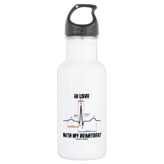 In Love With My Heartbeat (Electrocardiogram) 18oz Water Bottle