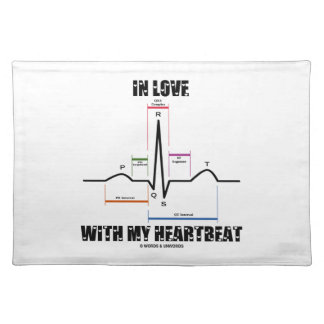 In Love With My Heartbeat Electrocardiogram Placemat