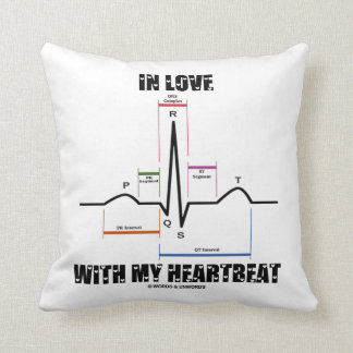 In Love With My Heartbeat (Electrocardiogram) Throw Pillow