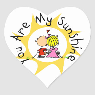 In Love You Are My Sunshine Heart Sticker