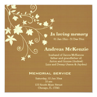In Loving Memory 13 Cm X 13 Cm Square Invitation Card