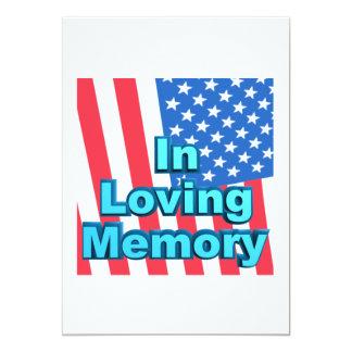 In Loving Memory 13 Cm X 18 Cm Invitation Card